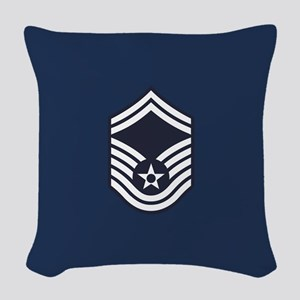 USAF: SMSgt E-8 (Blue) Woven Throw Pillow