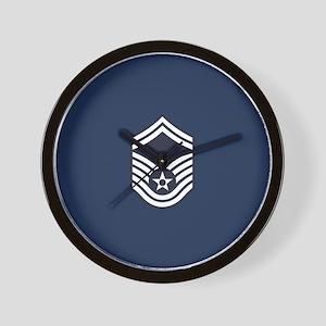 USAF: SMSgt E-8 (Blue) Wall Clock