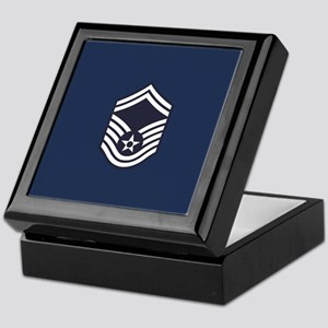 USAF: SMSgt E-8 (Blue) Keepsake Box