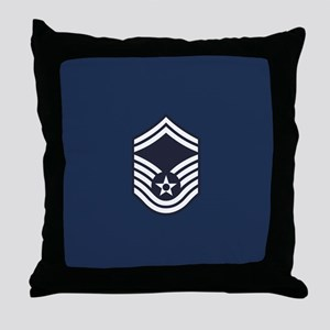 USAF: SMSgt E-8 (Blue) Throw Pillow