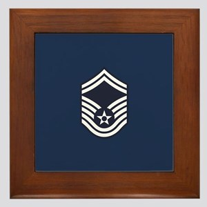 USAF: SMSgt E-8 (Blue) Framed Tile