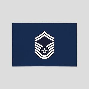 USAF: SMSgt E-8 (Blue) 4' x 6' Rug