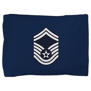 USAF: SMSgt E-8 (Blue) Pillow Sham