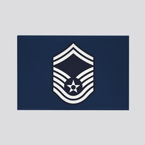 USAF: SMSgt E-8 (Blue) Rectangle Magnet