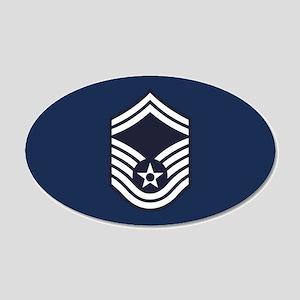 USAF: SMSgt E-8 (Blue) 20x12 Oval Wall Decal
