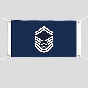 USAF: SMSgt E-8 (Blue) Banner