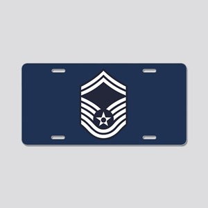 USAF: SMSgt E-8 (Blue) Aluminum License Plate