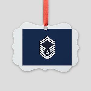 USAF: SMSgt E-8 (Blue) Picture Ornament