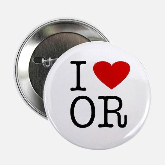 I Love Oregon (OR) Button