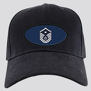 USAF: MSgt E-7 (Blue) Black Cap with Patch