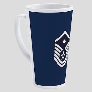 USAF: MSgt E-7 (Blue) 17 oz Latte Mug