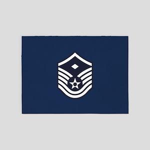 USAF: MSgt E-7 (Blue) 5'x7'Area Rug