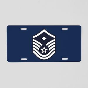 USAF: MSgt E-7 (Blue) Aluminum License Plate