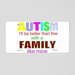 autism Aluminum License Plate
