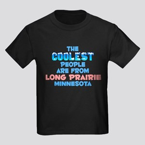 Coolest: Long Prairie, MN Kids Dark T-Shirt