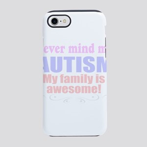 autism family awesome iPhone 8/7 Tough Case