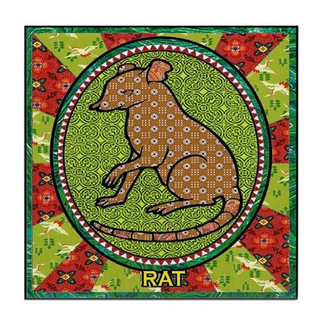 Year of the Rat 2 Tile Coaster