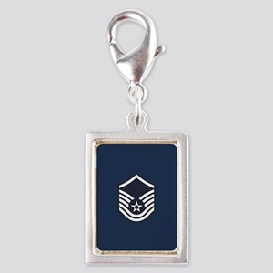 USAF: MSgt E-7 (Blue) Silver Portrait Charm