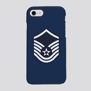 USAF: MSgt E-7 (Blue) iPhone 8/7 Tough Case