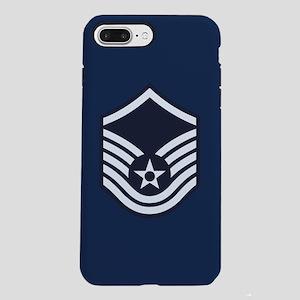USAF: MSgt E-7 (Blue) iPhone 8/7 Plus Tough Case