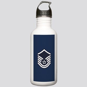 USAF: MSgt E-7 (Blue) Stainless Water Bottle 1.0L