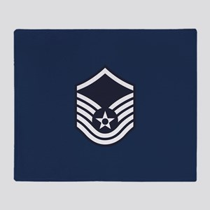 USAF: MSgt E-7 (Blue) Throw Blanket