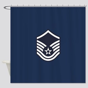 USAF: MSgt E-7 (Blue) Shower Curtain