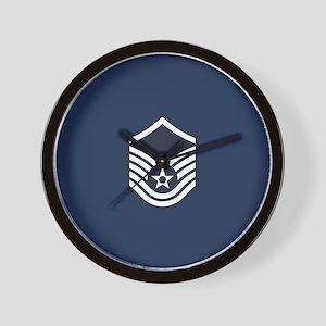 USAF: MSgt E-7 (Blue) Wall Clock
