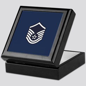 USAF: MSgt E-7 (Blue) Keepsake Box
