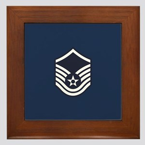 USAF: MSgt E-7 (Blue) Framed Tile