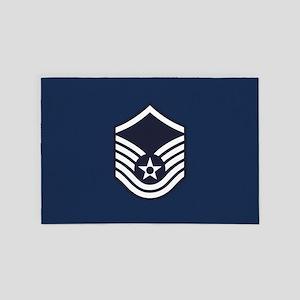 USAF: MSgt E-7 (Blue) 4' x 6' Rug