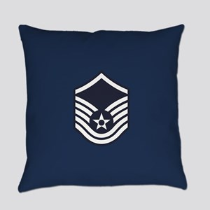USAF: MSgt E-7 (Blue) Everyday Pillow