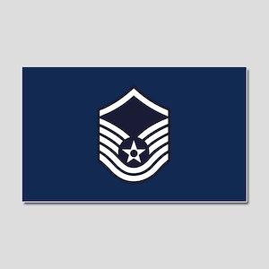 USAF: MSgt E-7 (Blue) Car Magnet 20 x 12