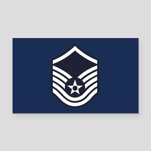USAF: MSgt E-7 (Blue) Rectangle Car Magnet