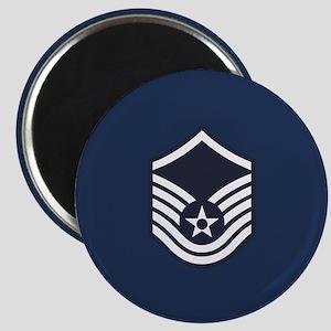 USAF: MSgt E-7 (Blue) Magnet