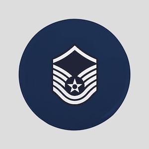 "USAF: MSgt E-7 (Blue) 3.5"" Button"