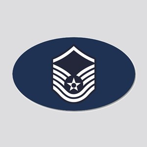 USAF: MSgt E-7 (Blue) 20x12 Oval Wall Decal