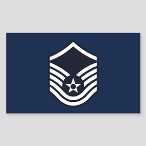 USAF: MSgt E-7 (Blue) Sticker (Rectangle)