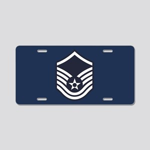 USAF: MSgt E-7 (Blue) Aluminum License Plate