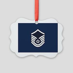 USAF: MSgt E-7 (Blue) Picture Ornament