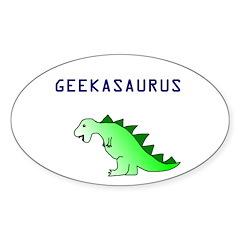 GEEKASAURUS Oval Decal