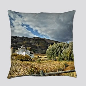 Barn and Tree by Leslie Harlow Everyday Pillow