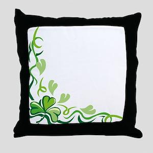 CORNER CLOVER Throw Pillow