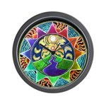 Mountain of Dreams Mandala Wall Clock