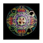 Mandala of Abundance Tile Coaster