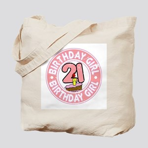 Birthday Girl #21 Tote Bag