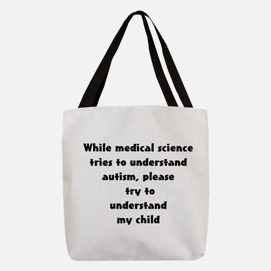autism parent Polyester Tote Bag