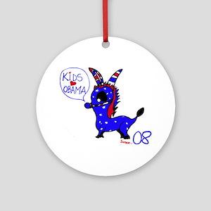 Kids Love Obama Ornament (Round)
