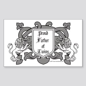 Father of Twins - Rectangle Sticker