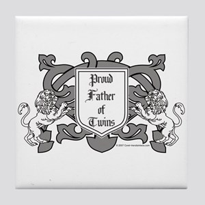 Father of Twins - Tile Coaster